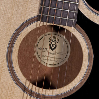 Guild AO-3CE Rosewood Orchestra Cutaway, Natural with Case