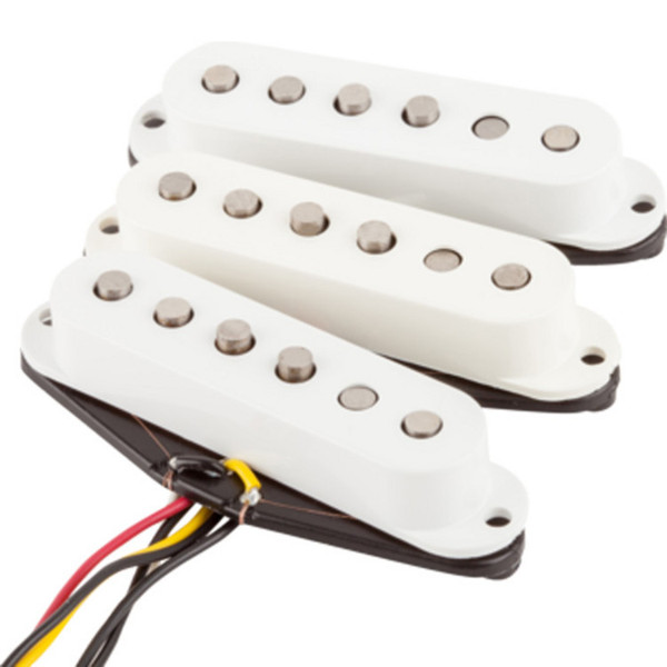 Fender Tex-Mex Stratocaster Pickups, White, Set of 3