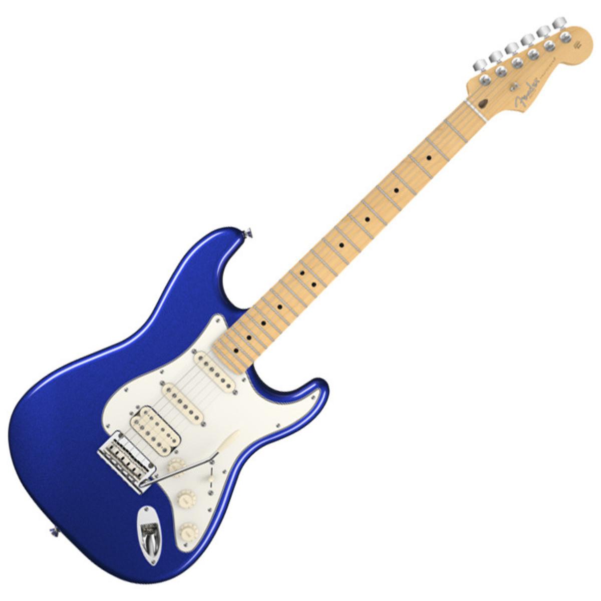 OFFLINE - Fender American Std Strat HSS Electric Guitar, Mystic Blue ...