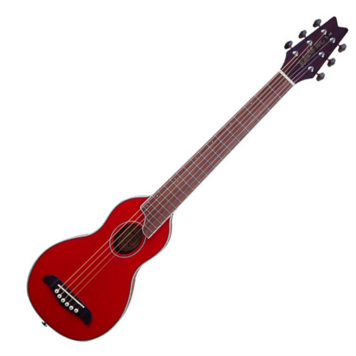 Washburn Rover RO10 Guitare acoustique de voyage, rouge ...