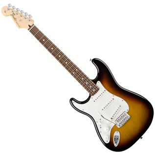 Fender Standard Stratocaster LH Electric Guitar, RW, Brown Sunburst