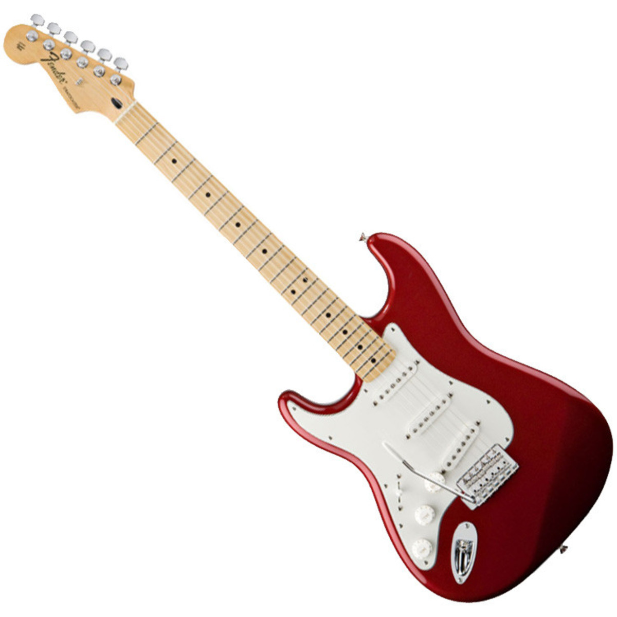disc fender standard stratocaster lh electric guitar mn c apple red at gear4music. Black Bedroom Furniture Sets. Home Design Ideas