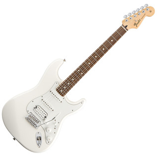 Fender Standard Stratocaster HSS Electric Guitar, RW, Arctic White