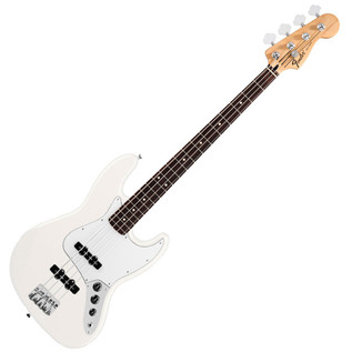 Fender Standard Jazz Bass Guitar, RW, Arctic White