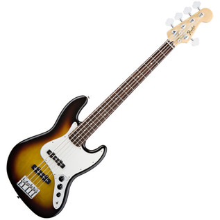 Fender Standard Jazz Bass V 5-String Bass Guitar, RW, Brown Sunburst