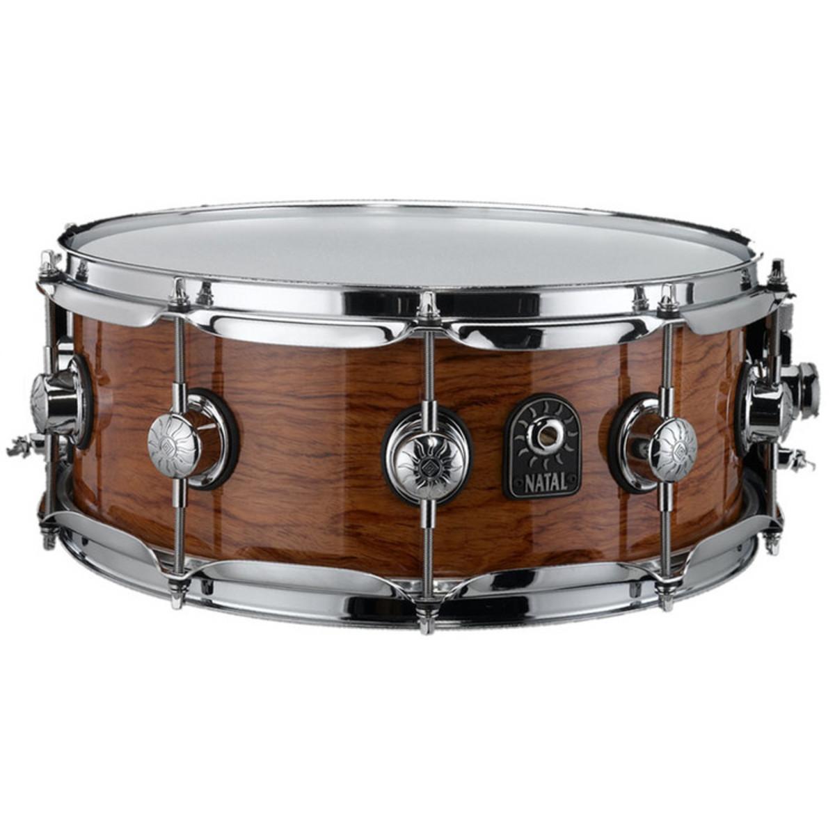 DISC Natal Natural Bubinga 10 Lug Snare Drum, 14\'\' x 6.5\'\' bei ...