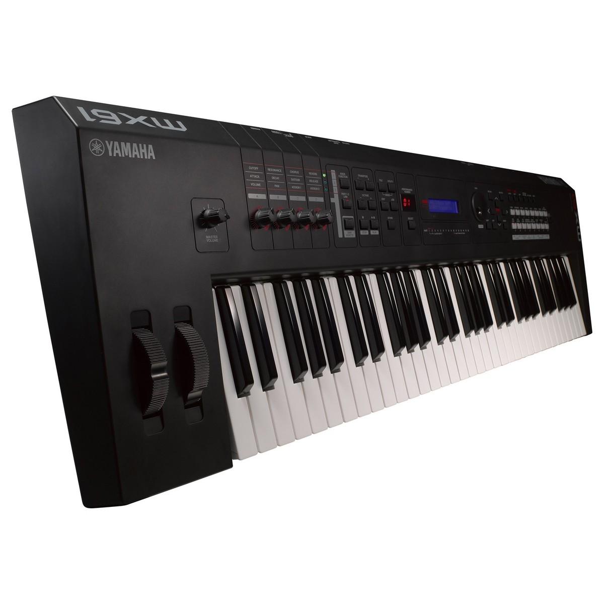 Disc yamaha mx61 production synthesizer with free bag at for Yamaha keyboard synthesizer