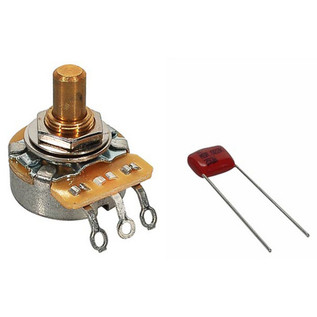 Fender Volume/Tone 500K Solid Shaft Potentiometer