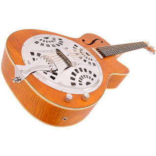 Vintage VRC800AMF Electro-Acoustic Resonator Guitar, Amber Angle