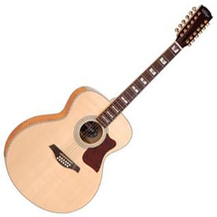 Vintage V1700 Solid Super Jumbo 12 String Acoustic Guitar, Natural