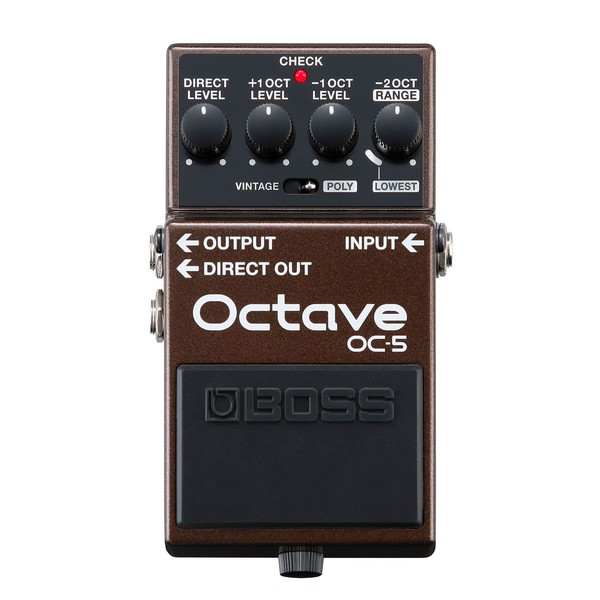 Boss OC-5 Octave Pedal- Front