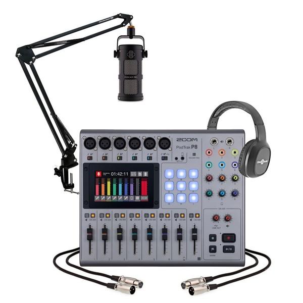 Zoom Podtrak P8 Podcasting Bundle with Sontronics Podcast Pro - Full Bundle