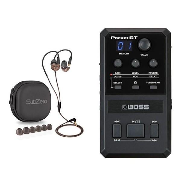 Boss Pocket GT Effects Processor with In Ear Monitors