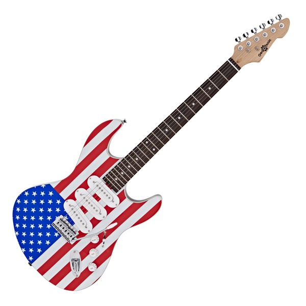 LA Electric Guitar by Gear4music, Stars and Stripes