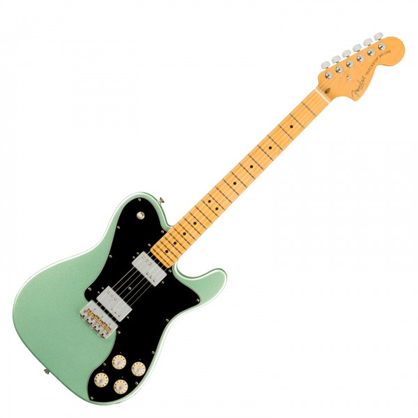 Fender American Pro II Telecaster Deluxe MN, Mystic Surf Green - front