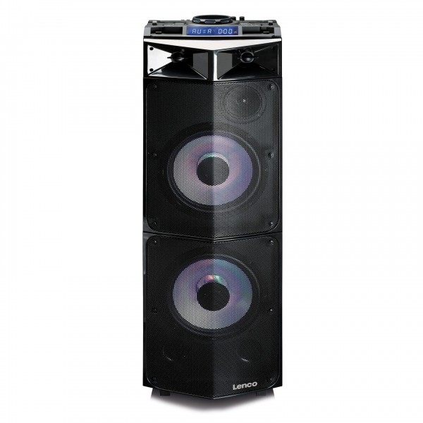 Lenco PMX-300 Party Speaker with Mixer and Bluetooth - Front
