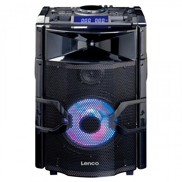 Lenco PMX-250 Party Speaker with Mixer and Bluetooth - Front