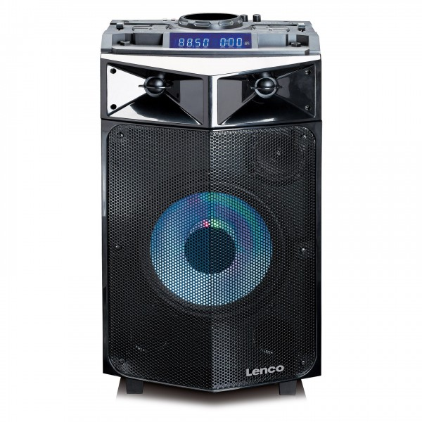 Lenco PMX-240 Party Speaker with Mixer and Wireless Microphone - Front
