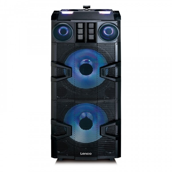 Lenco PMX-850 Party Speaker with DJ Mixer and Wireless Microphone - Front
