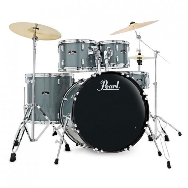 Pearl Roadshow 5pc American Fusion Drum Kit, Charcoal w/Ride Cymbal