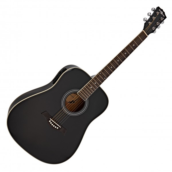 Dreadnought Electro Acoustic Guitar by Gear4music, Black