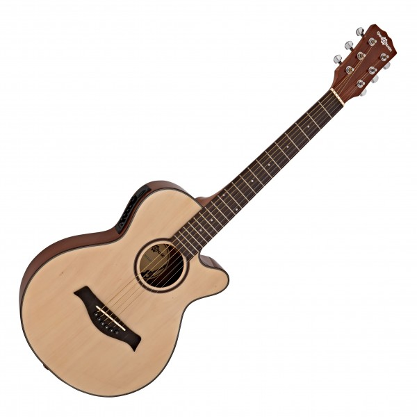 3/4 Single Cutaway Electro Acoustic Guitar by Gear4music