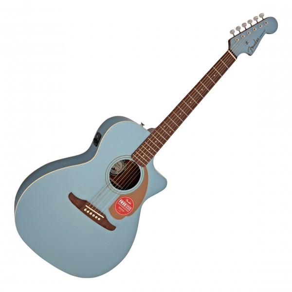 Fender Newporter Player Electro Acoustic, Ice Blue Satin