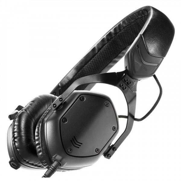 V-Moda XS On-Ear Headphones, Matte Black - Angled