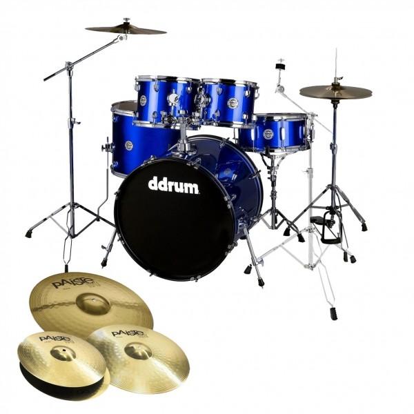 DDrum D2 22'' 5pc Drum Kit w/Paiste Cymbals, Cobalt Blue Sparkle