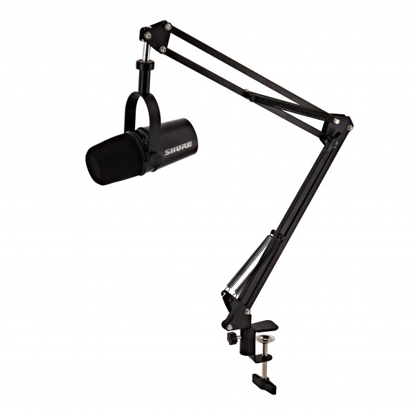 Shure MV7 Podcast Microphone, Black with Studio Arm