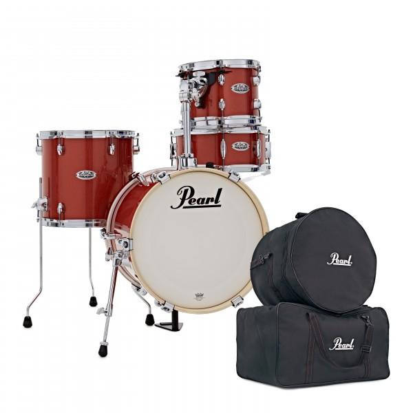 Pearl Midtown 4pc Compact Shell Pack w/Free Bag Set, Orange Crush
