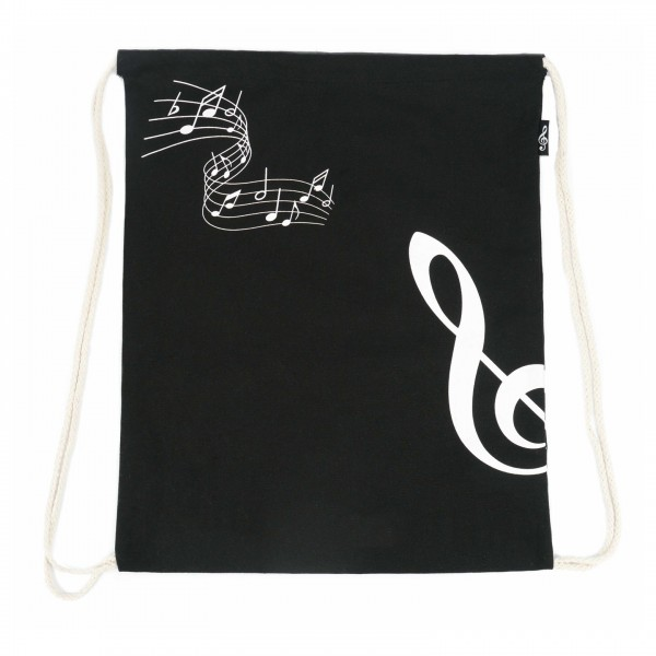 Agifty Drawstring Bag, G-Clef - Front
