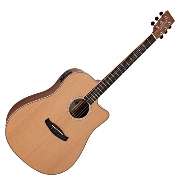 Tanglewood DBTDCEBW Discovery Dreadnought Electro Acoustic, Natural