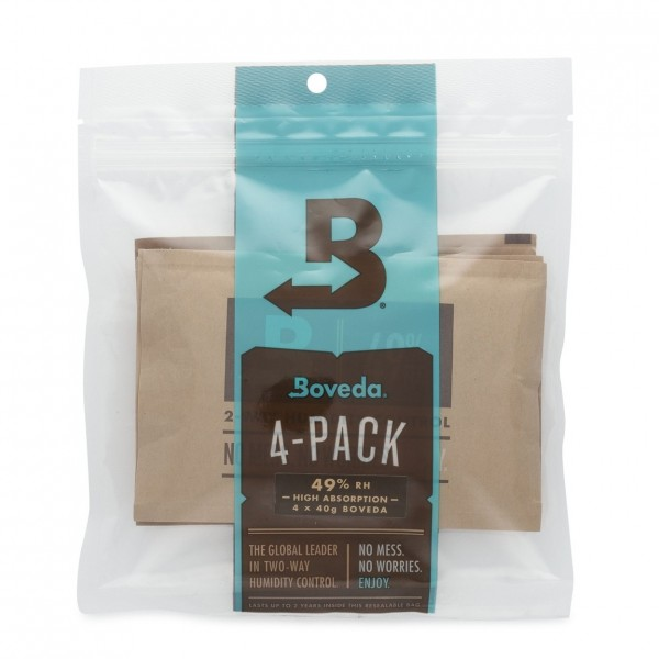 Boveda Humidity Control Guitar Storage 4-Pack, 49% 40g - Front
