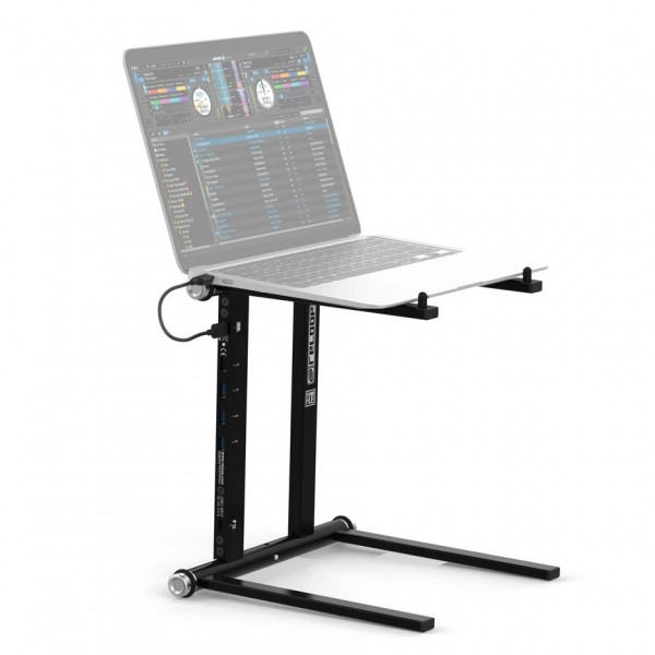 Reelop Stand Hub, Advanced Laptop Stand with USB-C Hub - Macbook View (Not Included)
