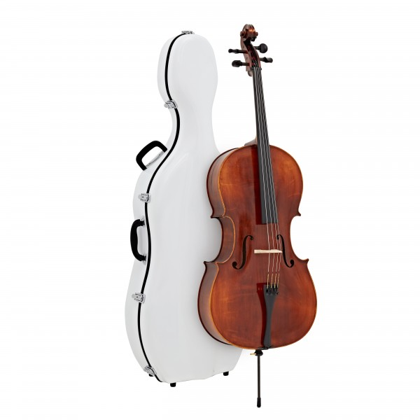 Eastman Concertante Antiqued Cello Outfit with Gold Level Set Up