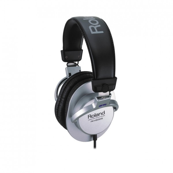 Roland RH-200S Monitor Headphones, Silver - Front Angled Left