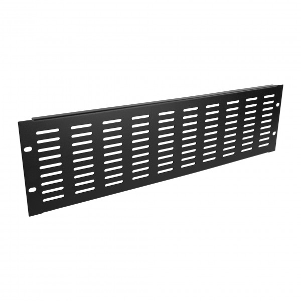 "Adam Hall 87223VH 19"" 3U Ventilation Panel with Vertical Slots- Angled"