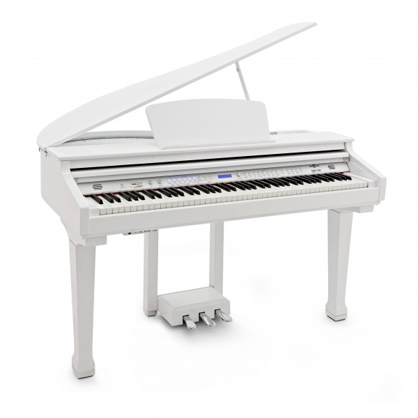 GDP-100 Digital Grand Piano by Gear4music, Gloss White
