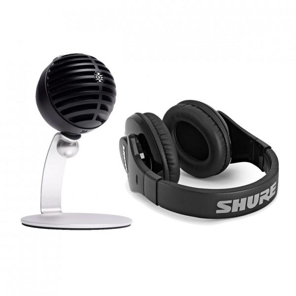 Shure MOTIV MV5C Home Office Microphone with SRH240A Headphones