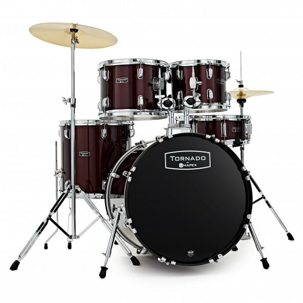 Mapex Tornado III 22'' Rock Fusion Drum Kit, Burgundy