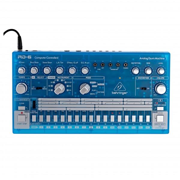 Behringer RD-6 Drum Machine, Transparent Blue