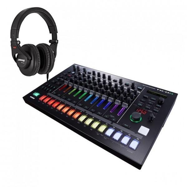 Roland AIRA TR-8S Rhythm Performer with Shure SRH440 Headphones