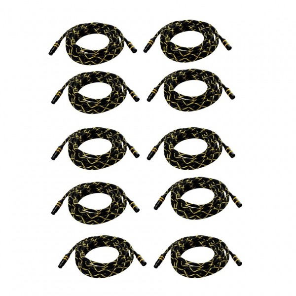 Neat Beeline XLR Microphone Cable, 6m (10 Pack)