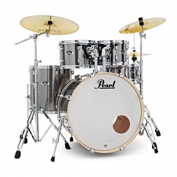Pearl Export EXX 22'' Am. Fusion Drum Kit, Smokey Chrome