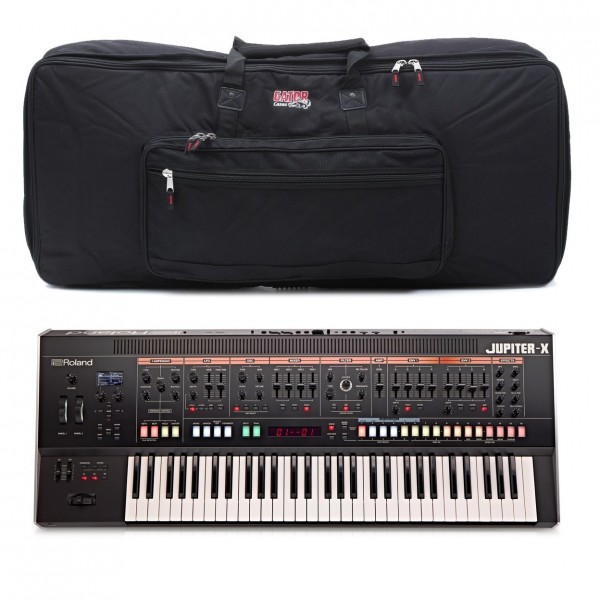 Roland Jupiter-X 61 Key Synthesizer with Gator Bag - Top