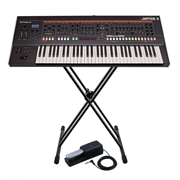 Roland Jupiter-X 61 Key Synthesizer with Stand and Pedal - Full Bundle