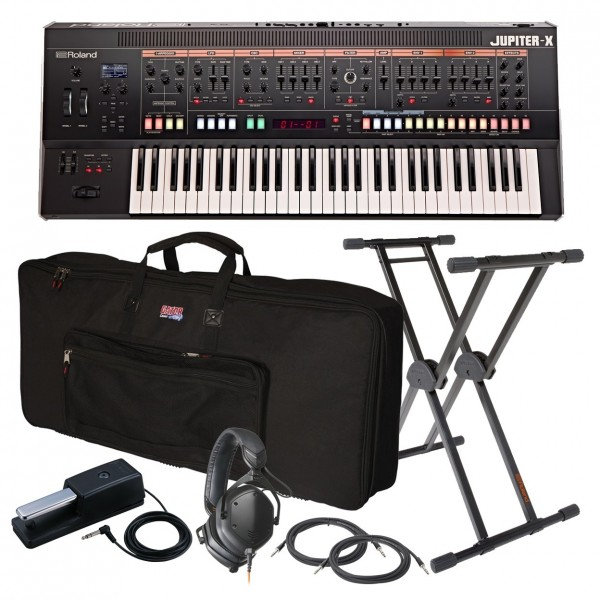 Roland Jupiter-X 61 Key Synthesizer Ultimate Bundle - Full Bundle