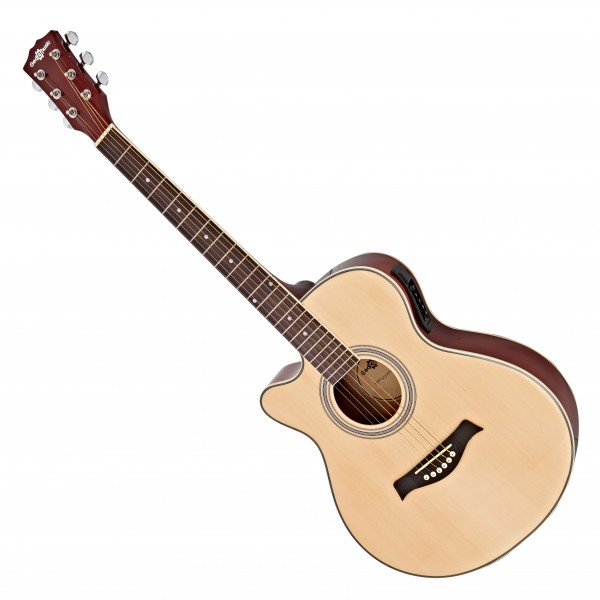 Single Cutaway Left Handed Electro Acoustic Guitar by Gear4music