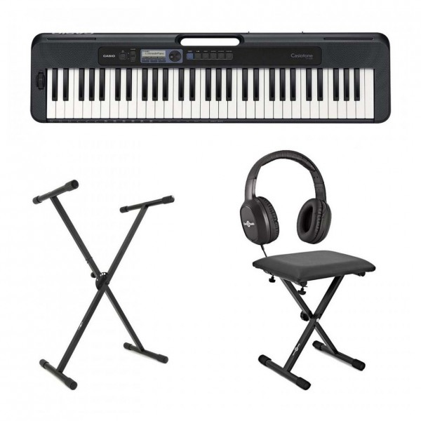 Casio CT S300 Portable Keyboard Package, Black
